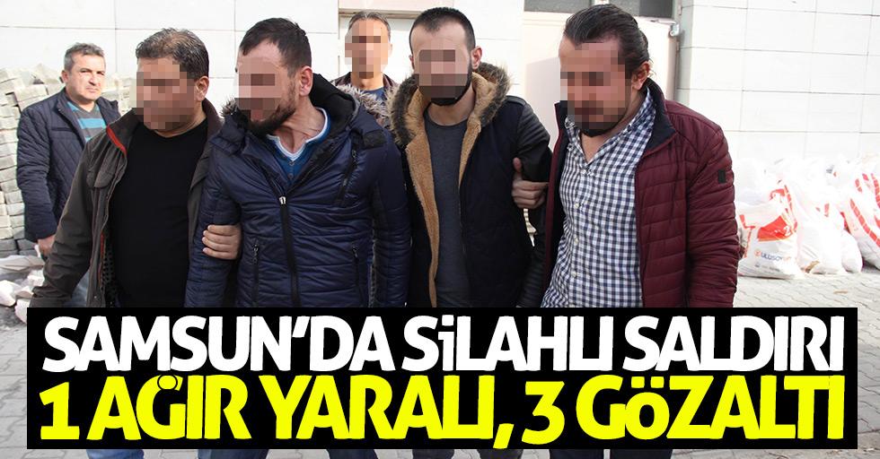 Samsun'da silahlı saldırı: 3 gözaltı