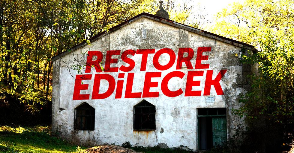 Samsun'da talan edilen cami restore edilecek