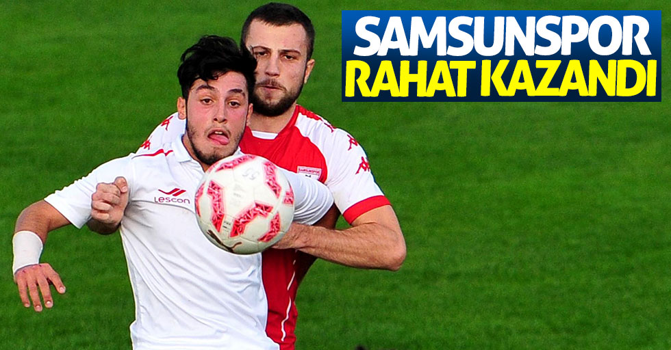 Samsunspor rahat kazandı 2-0