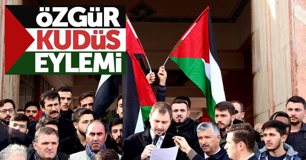 OMÜ'de Özgür Kudüs eylemi yapıldı