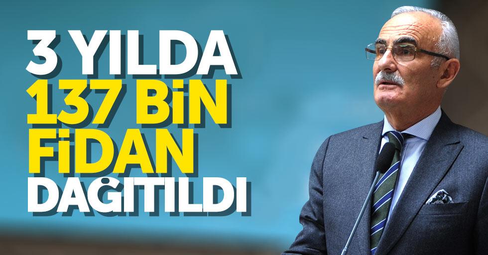 Samsun'da 3 yılda 137 bin 800 adet fidan dağıtıldı