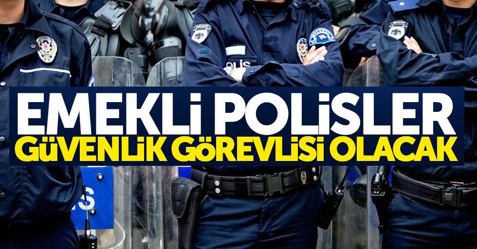Samsun'da emekli polisler güvenlik görevlisi olacak