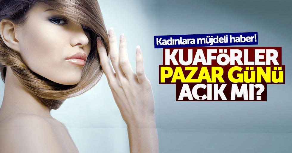 Samsun'da Pazar günü kuaförler açık mı?