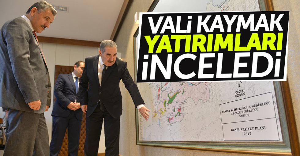 Samsun Valisi Kaymak, yatırımları inceledi
