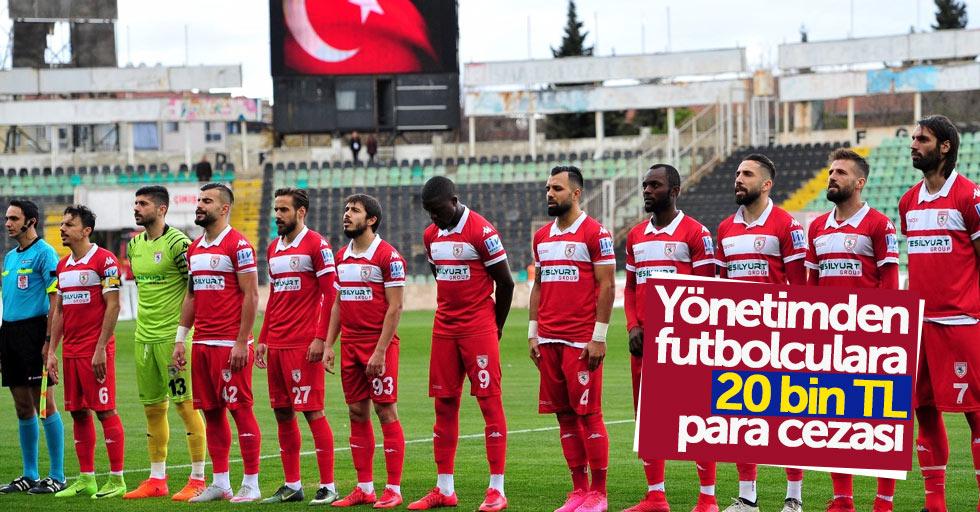 Yönetimden futbolculara 20 bin TL para cezası