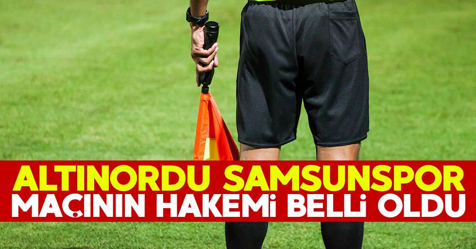 Altınordu – Samsunspor maçının hakemi belli oldu