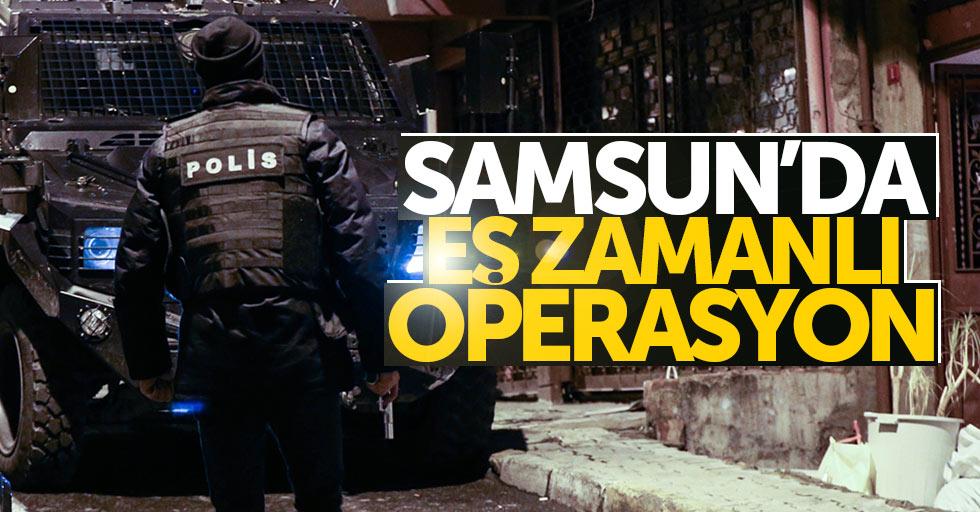 Samsun'da eş zamanlı FETÖ operasyonu