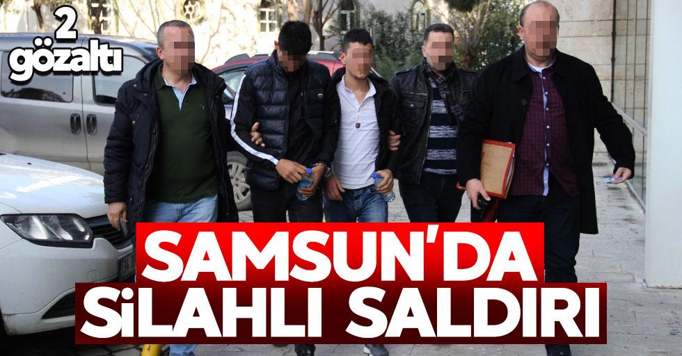 Samsun'da silahlı yaralama: 2 gözaltı