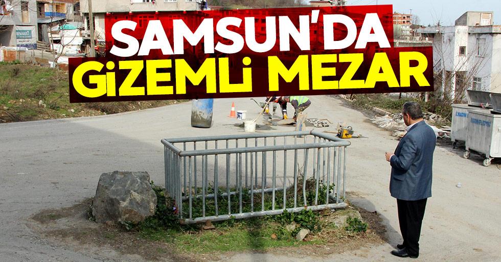Samsun'da yol ortasında gizemli mezarlık
