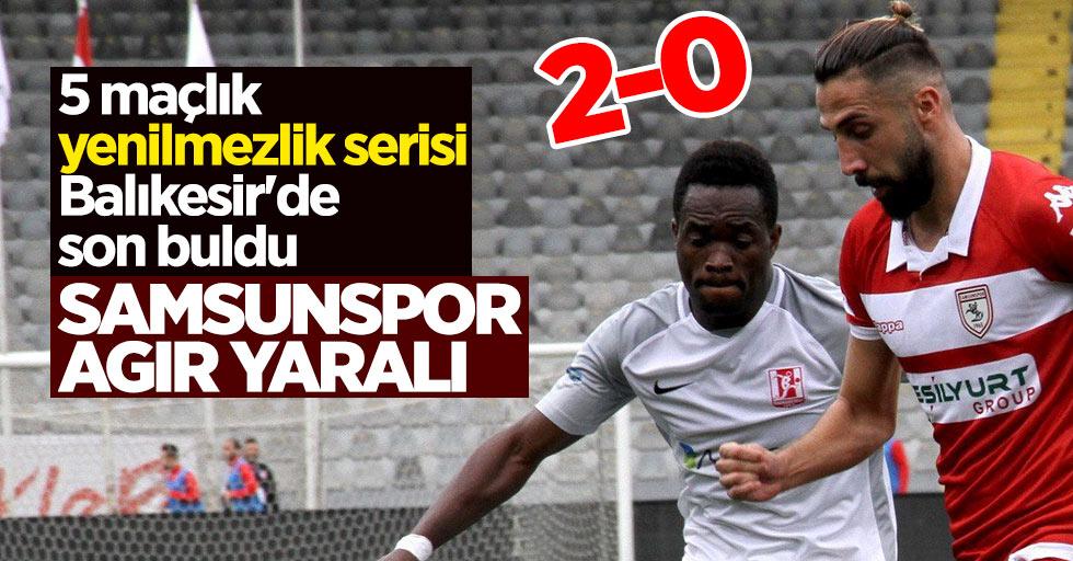 Samsunspor ağır yaralı 2-0