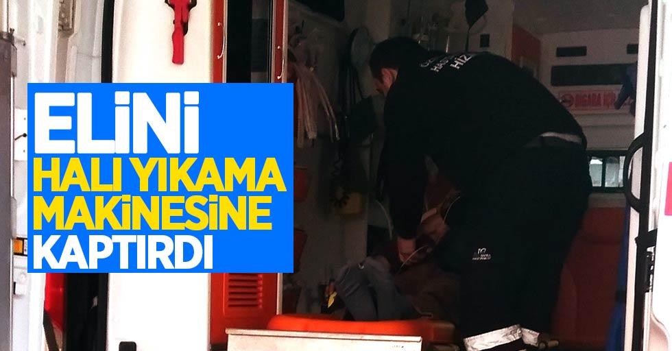 Samsun'da işçi elini halı yıkama makinesine kaptırdı