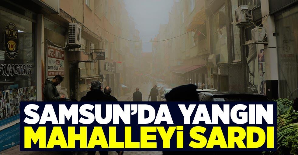 Samsun'da yangın mahalleyi sardı