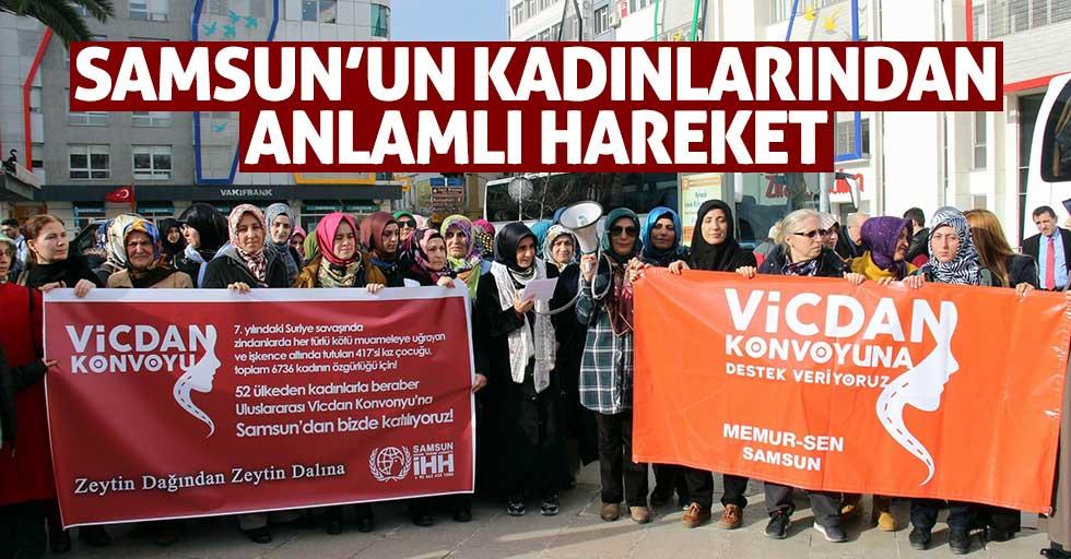 Samsun'un kadınlarından anlamlı hareket