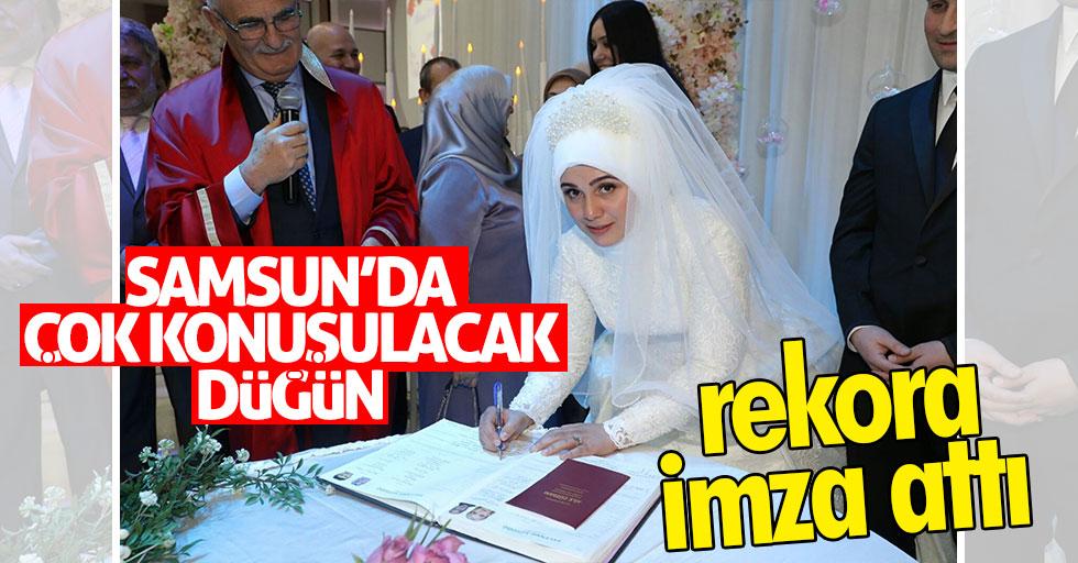 Samsun'da çok konuşulacak düğün