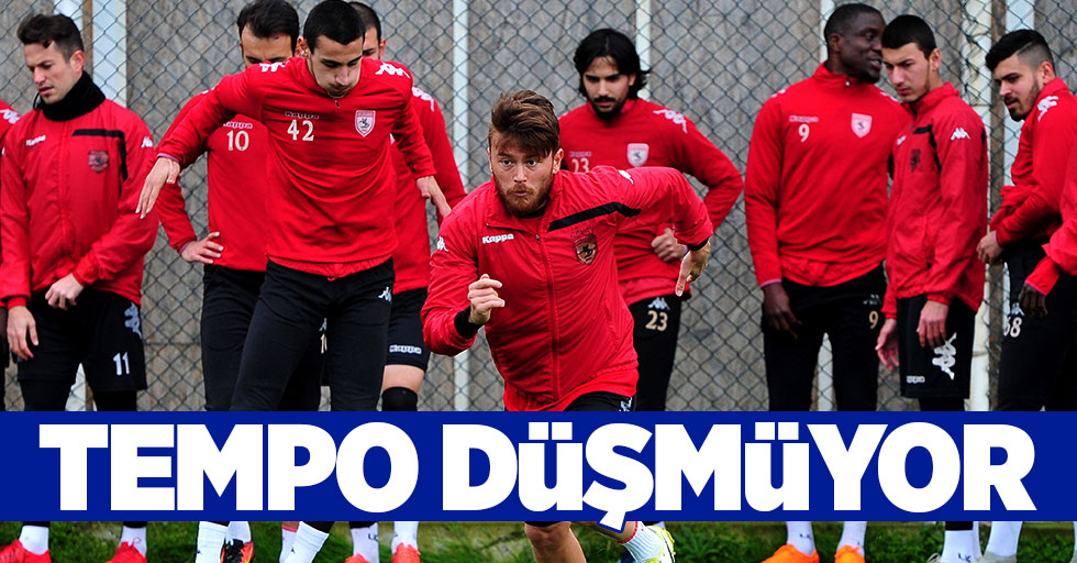 Samsunspor'da tempo düşmüyor
