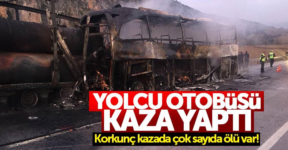 Yolcu otobüsü kaza yaptı: Çok sayıda ölü var