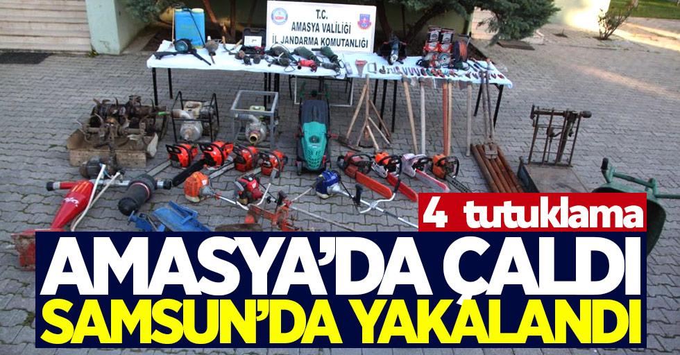 Amasya'da çaldı Samsun'da yakalandı
