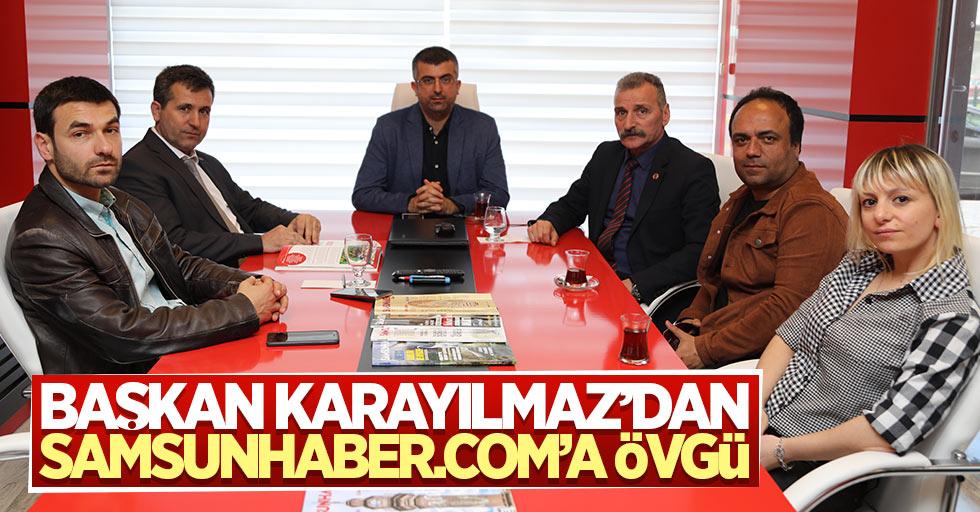 Başkan Karayılmaz, Samsunhaber.COM'da