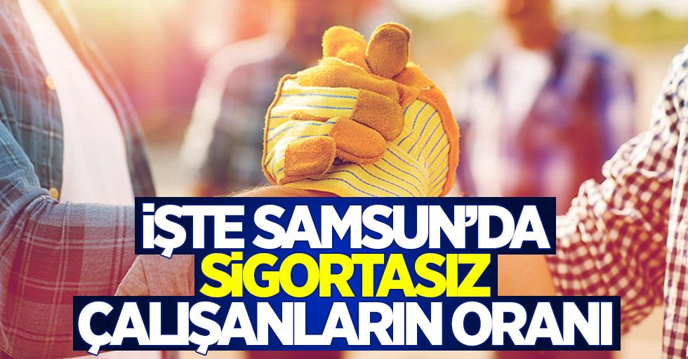 İşte Samsun'da sigortasız çalışanların oranı