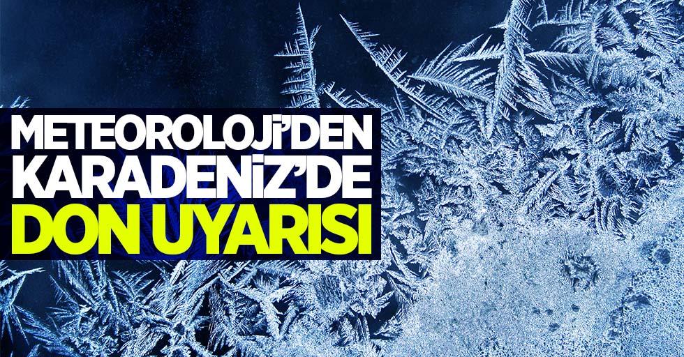 Meteoroloji'den Karadeniz'de don uyarısı
