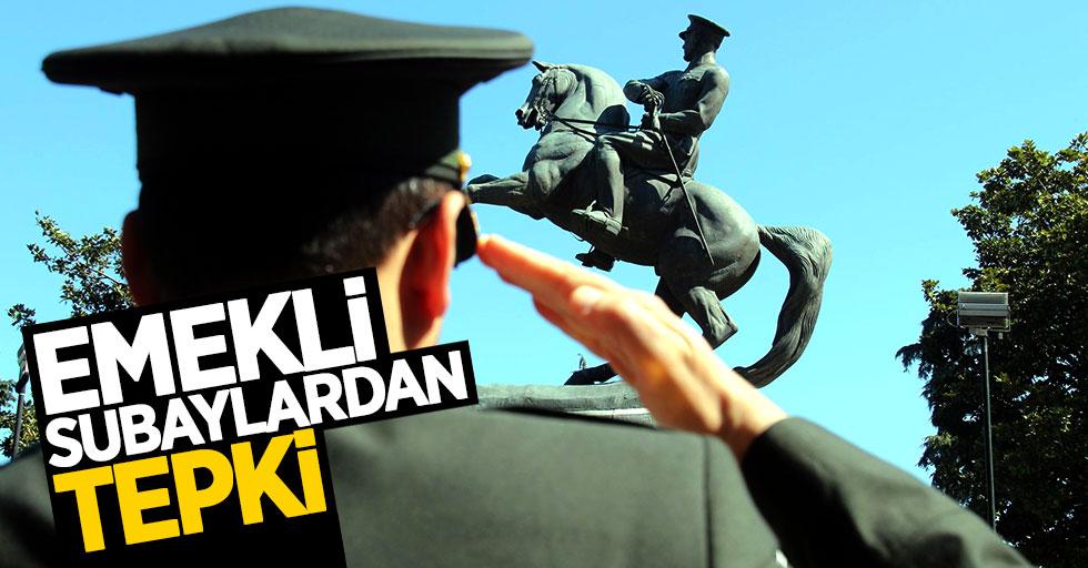 Samsun'da emekli subaylardan tepki