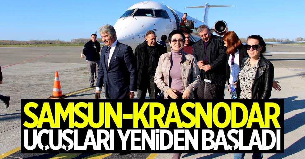 Samsun-Krasnodar uçuşları yeniden başladı