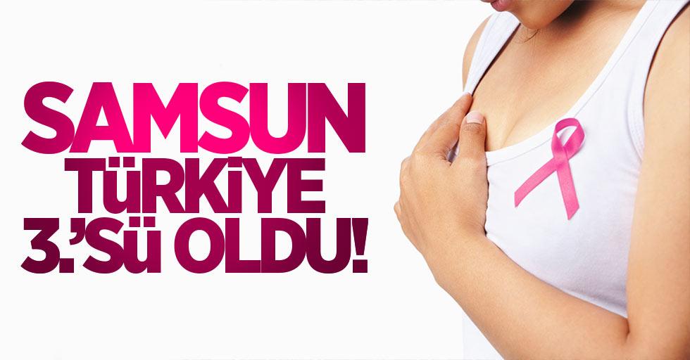 Samsun, Türkiye 3'üncüsü oldu