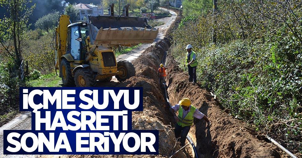 Samsun'un o mahallelerinde içme suyu hasreti sona eriyor