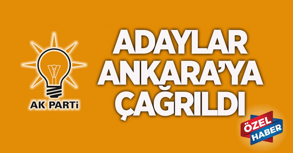 Aday adayları  Ankara'ya gidiyor