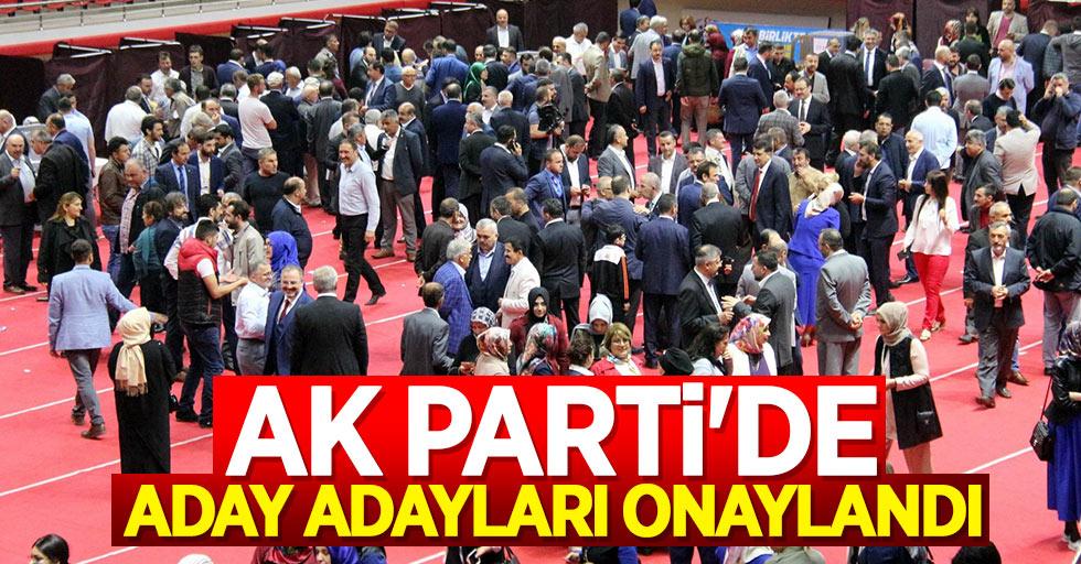 AK Partide Aday Adayları Onaylandı