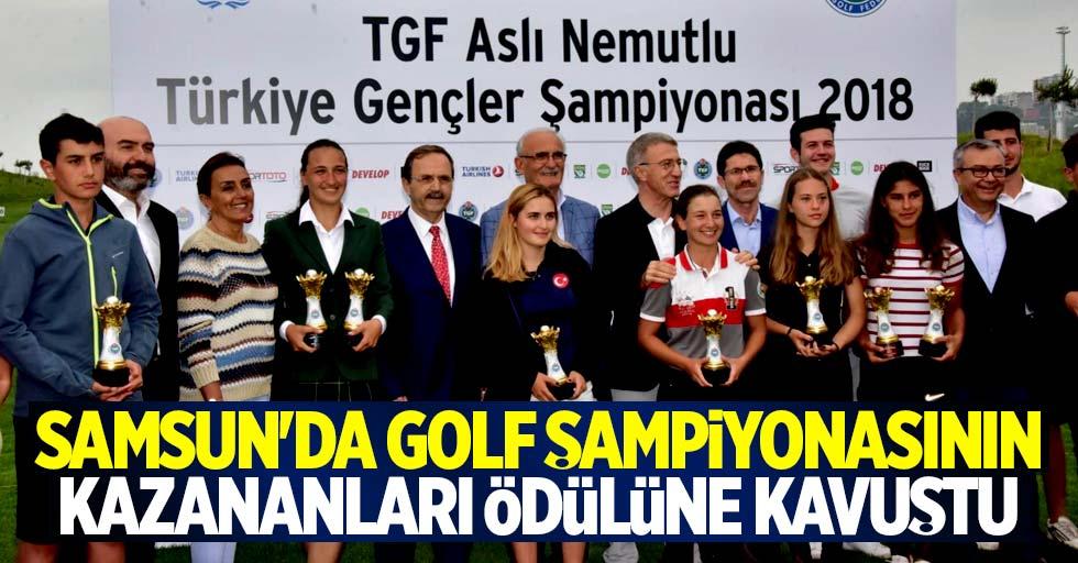 Samsun'da golf şampiyonları ödülüne kavuştu