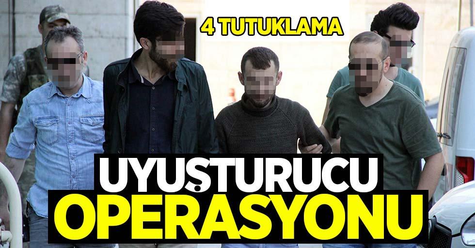 Samsun'da uyuşturucu operasyonu: 4 tutuklama