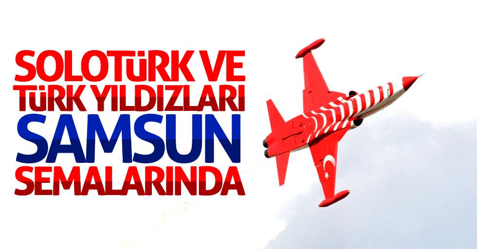 Türk Yıldızları ve SOLOTÜRK Samsun'da prova yaptı