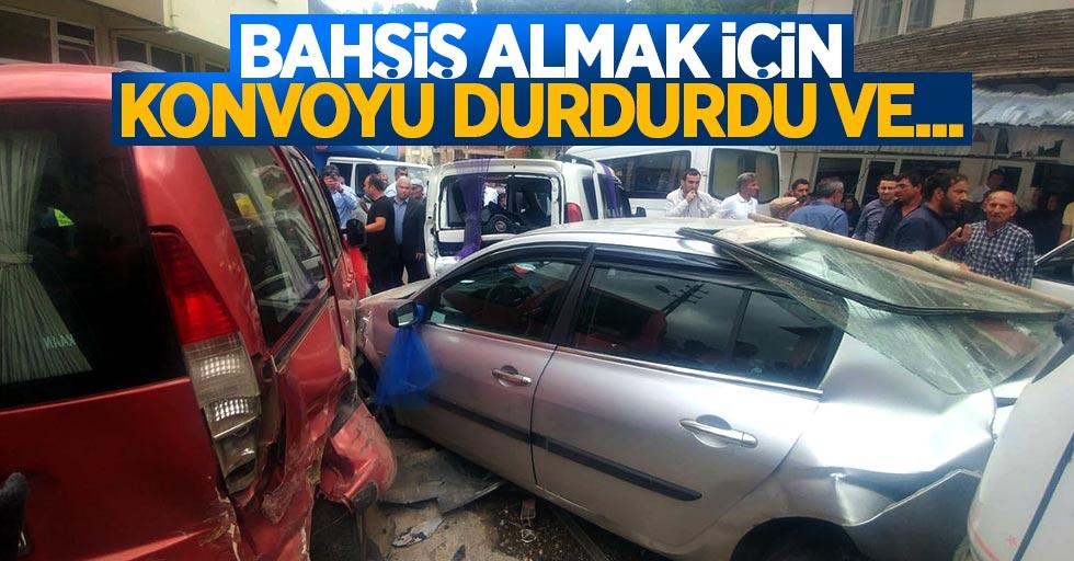 Düğün konvoyu kaza yaptı: 11 yaralı