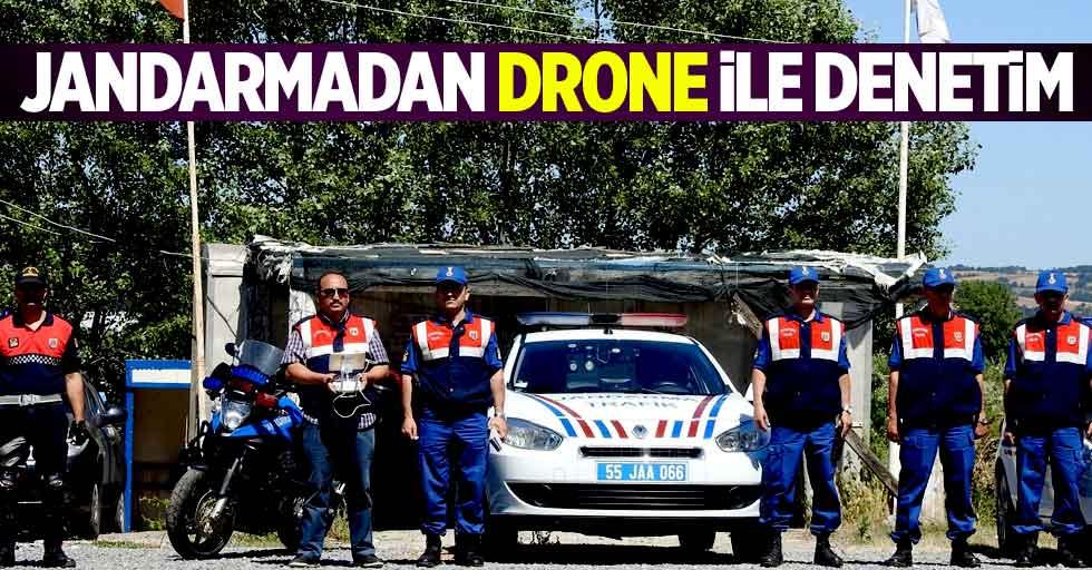 Jandarmadan drone ile denetim