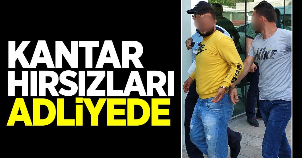 Samsun'daki kantar hırsızları adliyede