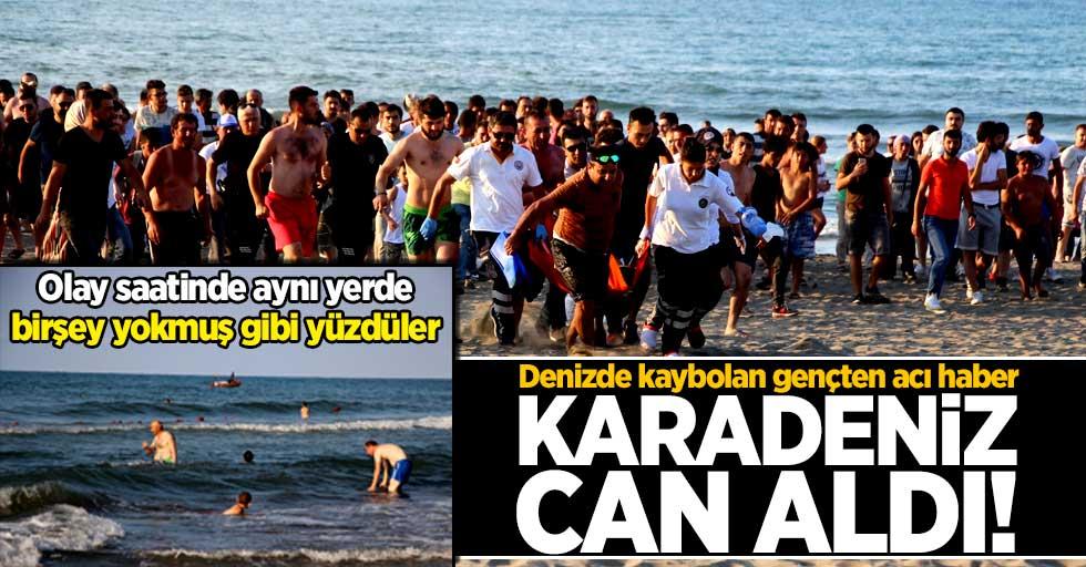 Denizde kaybolan genç aranırken onlar yüzmeye devam etti