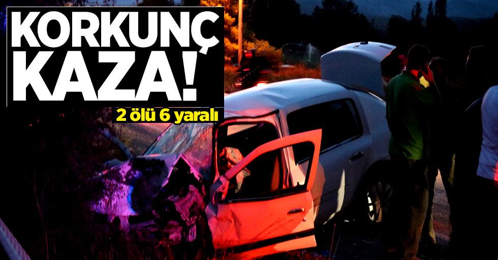 Korkunç kaza! 2 ölü, 6 yaralı