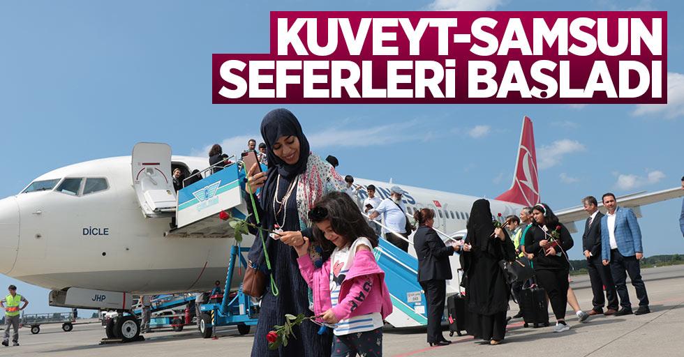 Kuveyt Samsun seferleri başladı: İlk uçak indi