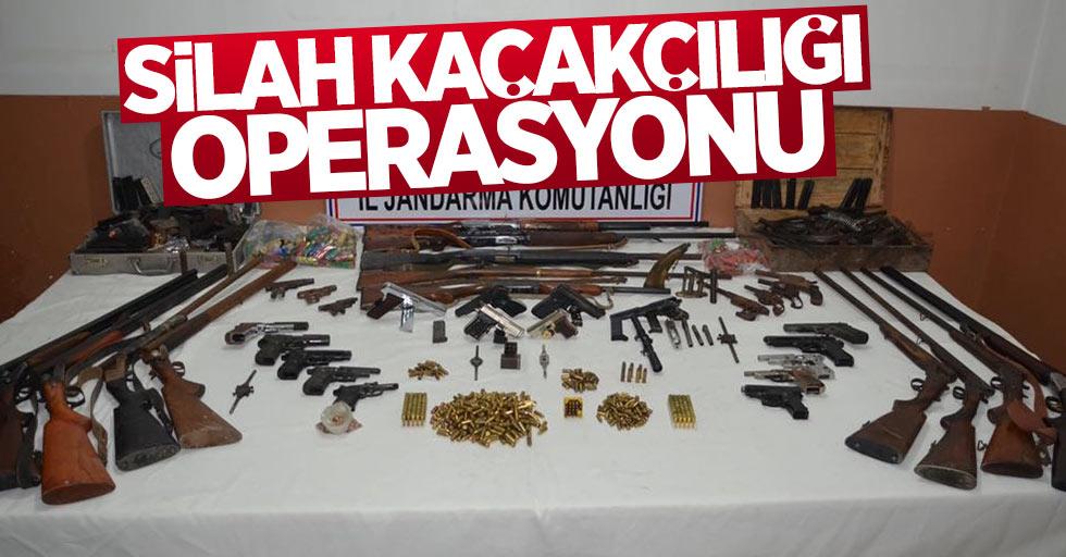 Samsun ve 6 ilde silah kaçakçılığı operasyonu