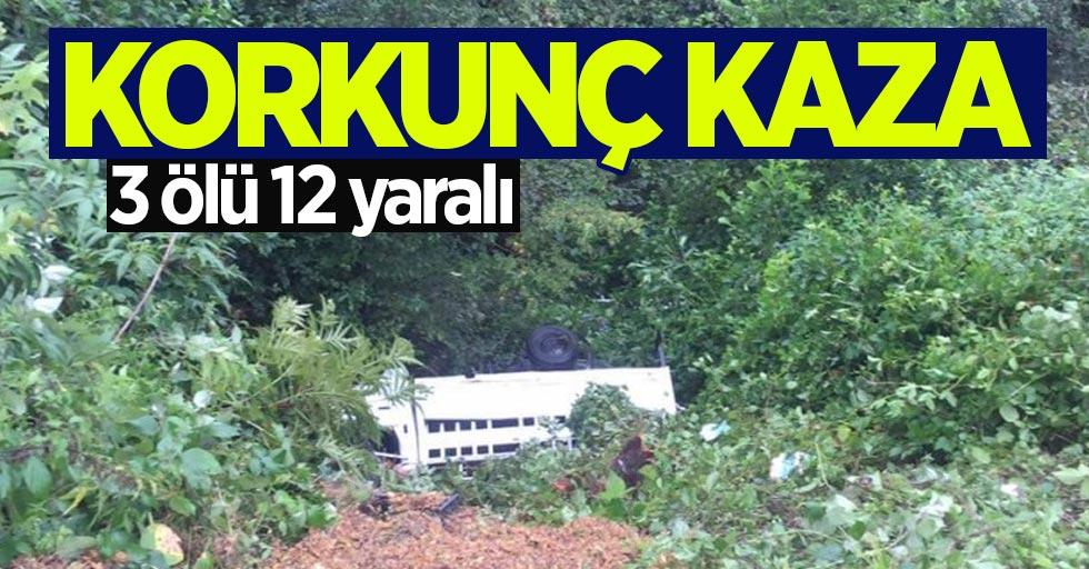 Giresun'da kaza: 3 ölü 12 yaralı