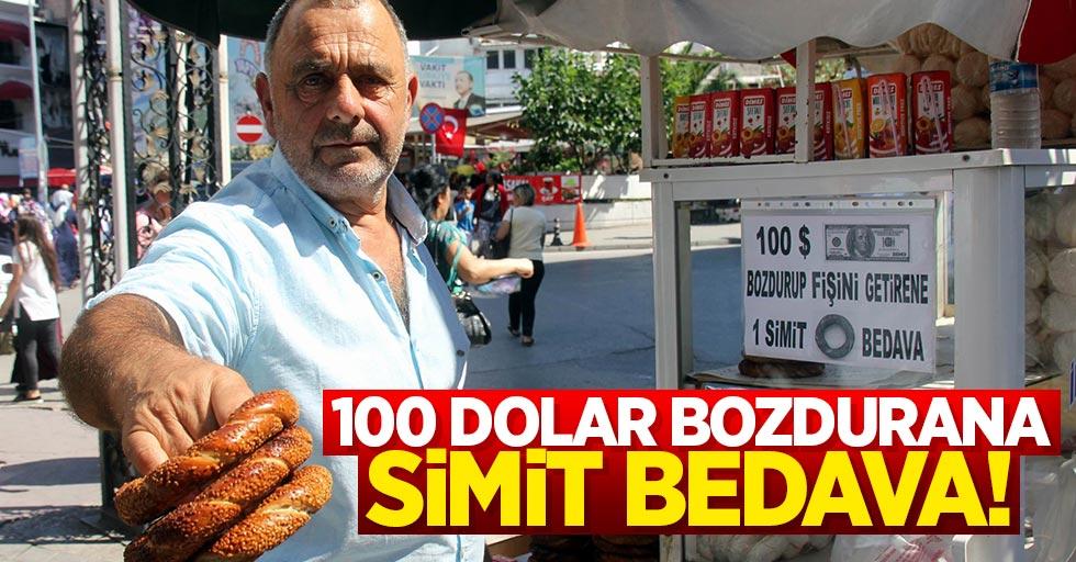 Samsun'da 100 dolar bozdurana simit bedava
