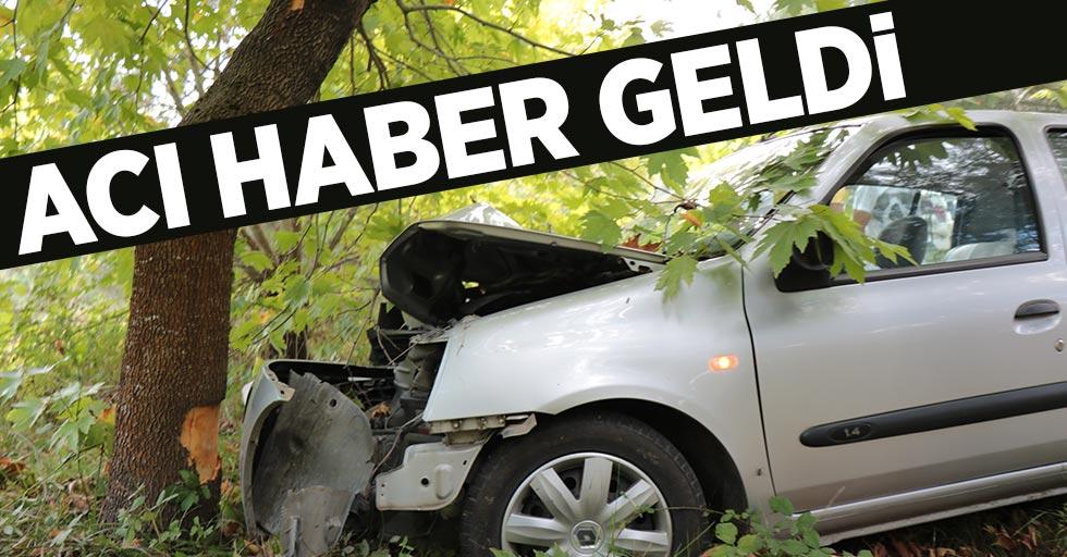 Samsun'da ağaca çarpan otomobilin sürücüsü hayatını kaybetti