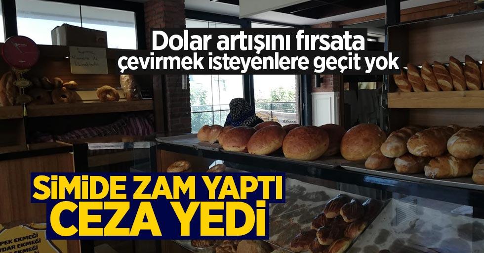Samsun'da simide zam yaptı: Ceza aldı