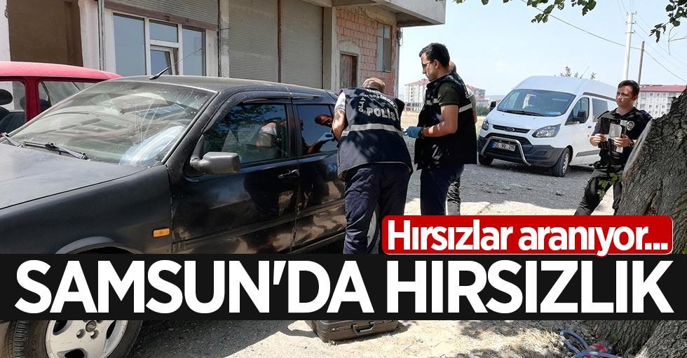 Samsun'da teyp ve hoparlör hırsızlığı