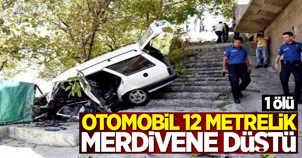 Otomobil 12 metrelik merdivene düştü! 1 ölü