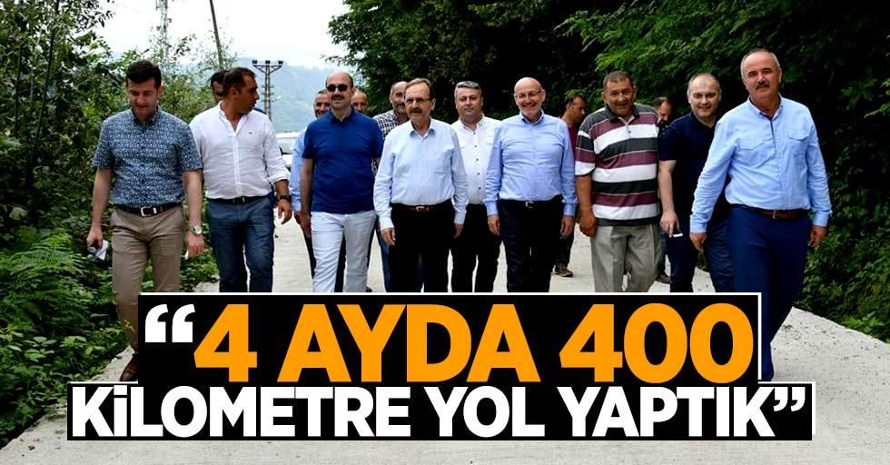 Samsun'da 4 ayda 400 kilometre yol yapıldı