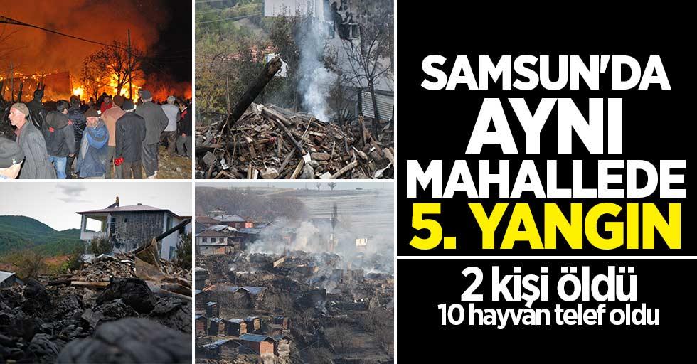 Samsun'da aynı mahallede 5. yangın