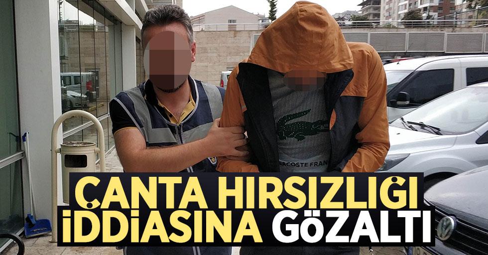 Samsun'da çanta hırsızlığı iddiasına gözaltı