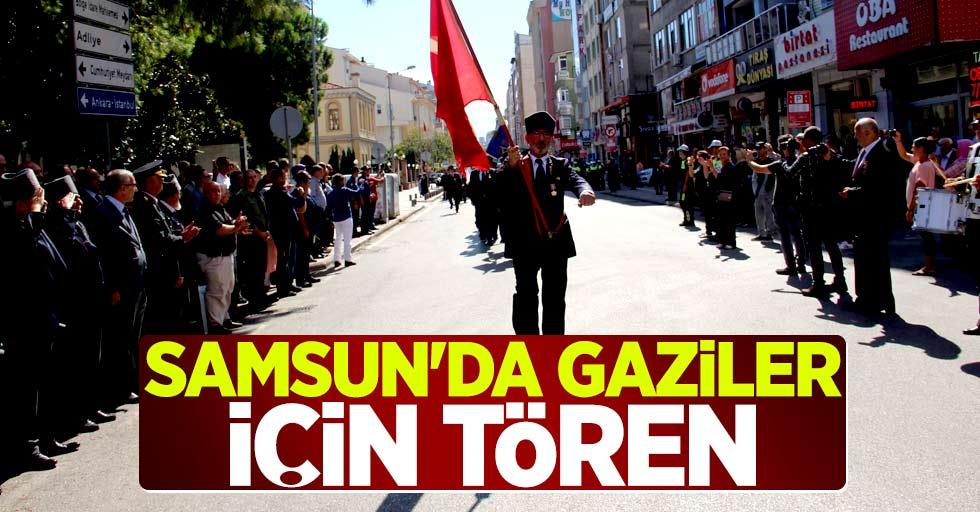 Samsun'da gaziler için tören